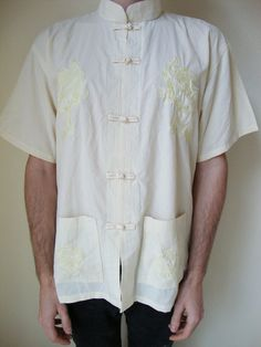 #adultworldshop #asian #yellow #shirt #pastel #embroidery #summer #silk #dragons #chinese #traditional #cyber #vaporwave #sadboys #aesthetic #clubkid