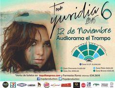 Ya casi estamos a un mes del concierto de Yuridia en Tijuana no faltes!