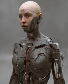 Science Fiction, Gato Anime, Arte Robot, Arte Cyberpunk, Mekka, Heavy Metal, Robot Girl, Sci Fi Armor, Cyberpunk Character