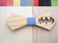 Wooden bow-tie unique gift Oak wood bow tie Handcrafted Handmade wedding accessories accessory men women Batman superhero (29.00 USD) by TheGentleWood
