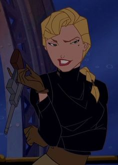 Helga Sinclair from Atlantis: The Lost Empire--don't you love it when you despise a character from the beginning and then they turn out to be evil?