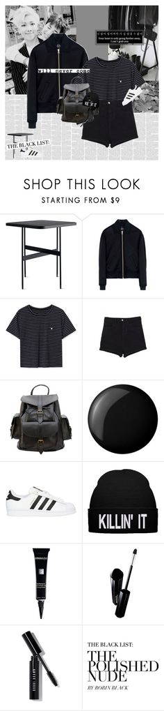 """""""(dead leaves.)"""" by e-laysian ❤ liked on Polyvore featuring McQ by Alexander McQueen, Grafea, Essie, adidas Originals, Dermablend, Shiseido, Bobbi Brown Cosmetics and bhalo"""