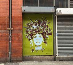 Manchester Street Art TankPetrol Girl Yellow