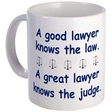 Good/Great Lawyer Mug - Gift Ideas for Lawyers (CafePress.com)