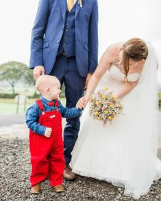 Gorgeous Teddy and his amazing wedding dungarees! Pageboy, Dungarees, Farm Wedding, Wedding Styles, Engagement, Amazing, Photography, Color, Bib And Brace Overalls