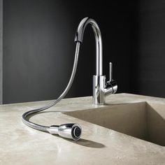 Hansa Cuisine Sink Mixer with Pull Down Spout