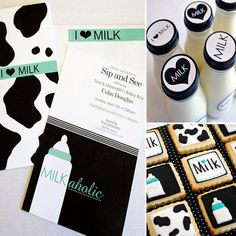 """Sip and See: A """"Milkaholic"""" Coed Baby Shower - www.lilsugar.com"""