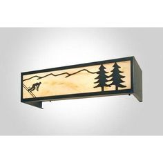 Steel Partners Downhill Skier 4 Light Vanity Light Wall Sconce Shade Color: Bungalow Green, Finish: Old Iron
