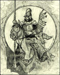 Polish hussar by Krzysztof Czyrny.Sketch 2015