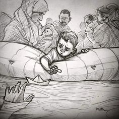 When all you have is hope, and everything else is lost… Open your heart! Filed under syria aylan aylan kurdi refugees crisis humanity refugee innocence sad life art statement Perspective Drawing Lessons, Perspective Art, Human Figure Sketches, Figure Sketching, Pencil Art Drawings, Art Drawings Sketches, Flag Art, Art Sketchbook, Concept Art