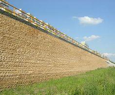 Grass Concrete: Leromur retaining wall 2 of 3