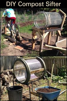 Compost Sifter - Average Gardeners Don't Need a Motorized Compost Sifter. This One is Easy to Build And Affordable -DIY Compost Sifter - Average Gardeners Don't Need a Motorized Compost Sifter. This One is Easy to Build And Affordable - Compost Soil, Garden Compost, Organic Gardening, Gardening Tips, Vegetable Gardening, Garden Mulch, Garden Beds, Composting At Home, Bokashi