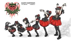 Babymetal fan art by Hirokazu Sato
