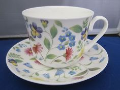 *SALE* CHATSWORTH BREAKFAST CUP SAUCER, MADE IN ENGLAND BY ROY KIRKHAM CHINA
