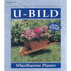 U-bild Wheelbarrow Planter Woodworking Plan 879