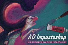 AD Impastoshop - Thick Paint Machine by Alex Dukal on @creativemarket