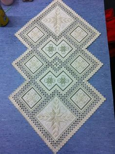 From pattern book Award Winning Hardanger 20?? By Nordic Needle. Completed early 2013