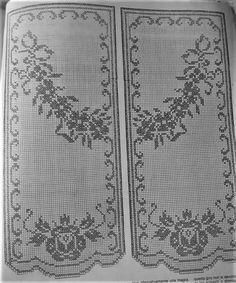 Free Crochet Doily Patterns, Filet Crochet Charts, Crochet Diagram, Crochet Doilies, Thread Crochet, Crochet Stitches, Knit Crochet, Crochet Curtains, Crochet Tablecloth