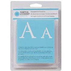 Amazon.com: Martha Stewart 32277 Alpha Stencil, Monogram Serif, Set of 48: Arts, Crafts & Sewing