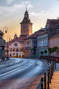 Brașov, Romania photo on Sunsurfer Brasov Romania, Bucharest Romania, Places Around The World, Travel Around The World, Around The Worlds, Places To Travel, Places To See, Visit Romania, Romania Travel