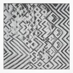 Vincent Vulsma | WE455 (X) | 2011 | Jacquard fabric, ecru cotton yarn, black rayon raffia fiber | 170 x 170 cm