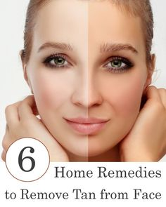 6 Home Remedies to Remove Tan from Face - All of these sun tan removal solutions are very easy to use, and they do provide some extraordinary results.