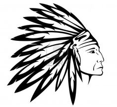 Red Indian chief wearing traditional headdress Stock Photo - 11091138