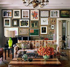Vintage Art Gallery (Salon) wall.