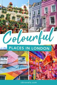 The most colourful places in London - a guide to the brightest and most instagrammble photogenic spots in London. Top photo spots and pretty places to visit for your Instagram feed. Great Places To Travel, London Places, London Travel, Top Photo, Germany Travel, Travel Around, Travel Guides, Instagram Feed, Adventure Travel