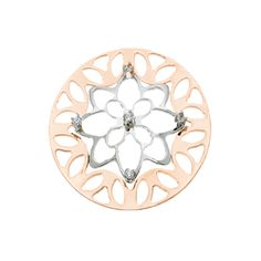 My iMenso 33mm Sterling Silver Fantasy Cubic Zirconia Rose Gold Plate 33-0226