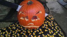 Cut out in head pumpkun