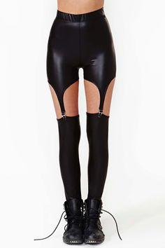 Coated Garter Leggings