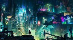 https://www.behance.net/gallery/53451651/Cyberpunk-City