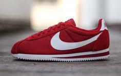 quality design c5d39 d8470 Nike Cortez Classic en nylon rouge (1)