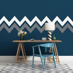 A lot of people get bored with their wall appearance. They want something new to make it more appealing. There are plenty of wallpaper designs you can pick. Do you ever think about applying painting stripes on your wall? It… Continue Reading → Creative Wall Painting, Wall Painting Decor, Wall Decor, Wall Art, Chevron Stripe Walls, Striped Walls, Wall Stripes, Painting Stripes On Walls, Painting Designs On Walls