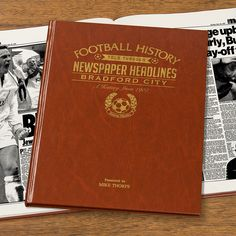 This Personalised Bradford History Book is the perfect gift for any fan of the club. The book kicks off with the earliest newspaper reports, covering their most memorable games and star players, leading right up until last season. See below for why the History of Bradford FC Book is the ultimate piece of memorabilia that will instantly become a treasured keepsake.