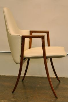 Paul Tuttle; Palisander and Leather Armchair for Stan Reifel, 1960s.