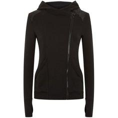 Michi Alba Zip Hoodie ($310) ❤ liked on Polyvore featuring tops, hoodies, sport hoodies, hooded pullover, hooded sweatshirt, zip top and zipper top