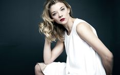Download wallpapers Natalie Dormer, 4k, Hollywood, 2018, american actress, white dress, beauty