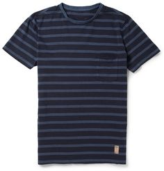 NN.07 Bjarke Striped Cotton-Jersey T-Shirt | MR PORTER