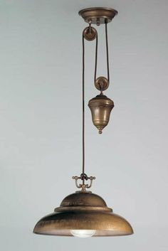 5 Kitchen Lamps on Pulleys