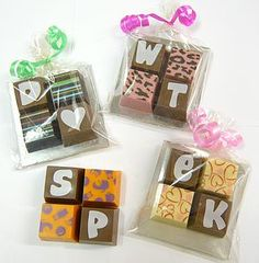 Personalised Chocolate Squares - valentine's sweet treats