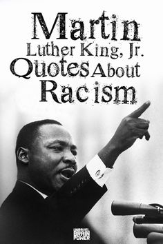 Here are 18 Quotes Martin Luther King, Jr. on Racism you must read and share. We collected these quotes for black people. Marthin Luther, Civil Rights Quotes, Injustice Quotes, Martin Luther King Quotes, Martin Luther King Speech, Fly Quotes, Qoutes, King Jr, School