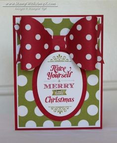 Merry Little Christmas with a Big Bow by amyk3868 - Cards and Paper Crafts at Splitcoaststampers