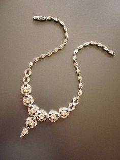 Vintage Bogoff Crystal Necklace Bridal Jewelry by JeepersKeepers, $195.00