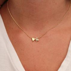 SUMENG Fashion Tiny Heart Dainty Initial Personalized Letter Name Choker Necklace For Women Pendant Jewelry Accessories Gift - Gold necklace - Initial Necklace Gold, Letter Necklace, Love Necklace, Necklace Types, Dainty Necklace, Heart Necklaces, Necklace Chain, Jewelry Necklaces, Initial Jewelry