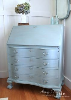 Secretary Desk Makeover Chalk Paint By Annie Sloan After Side