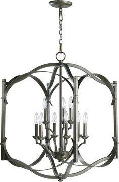 Beautiful wire basket chandelier french wire chandelier rosepourpre wegotlites quorum international 6796 9 86 2nd floor foyer aloadofball Images