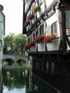 Ulm, Germany,das schiefe Haus