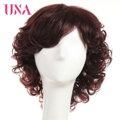 Brazilian human hair Medium wigs afro Curly wig natural Hair red wigs for African-American Cheap Human Hair, Human Hair Lace Wigs, Curly Wigs, Remy Human Hair, Curly Hair, Medium Hair Styles, Natural Hair Styles, Long Hair Styles, Hair Medium